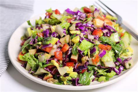 Http Www Joyfulhealthyeats Detox Summer Salad With Citrus Basil Vinaigrette by Detox Chopped Salad Three Hungry Boys