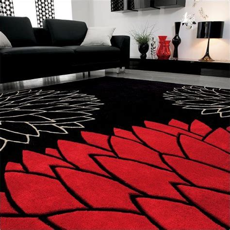 black living room rugs best 25 black white red ideas that you will like on