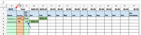 Dividend Spreadsheet Templates by Automated Dividend Calendar Two Investing