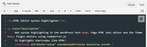 wordpress theme editor code highlight syntax highlighter wordpress plugins for source code skt