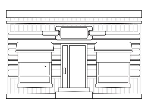 coloring book store 187 store fronts shop 13 black white line coloring book