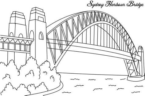 printable coloring pages golden gate bridge sydney harbour bridge coloring page for co op