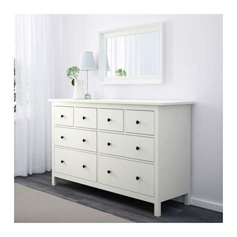 weisse kommode schubladen hemnes chest of 8 drawers white 160x95 cm ikea