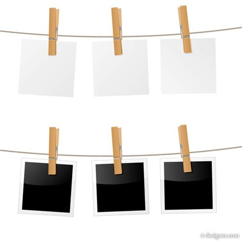 4 designer hanging photo vector material