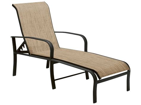 woodard chaise lounge woodard fremont sling aluminum adjustable chaise lounge