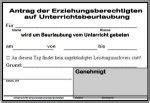Antrag Unterrichtsbefreiung Vorlage Realschule Ursulinen Straubing Krankmeldung Informationen