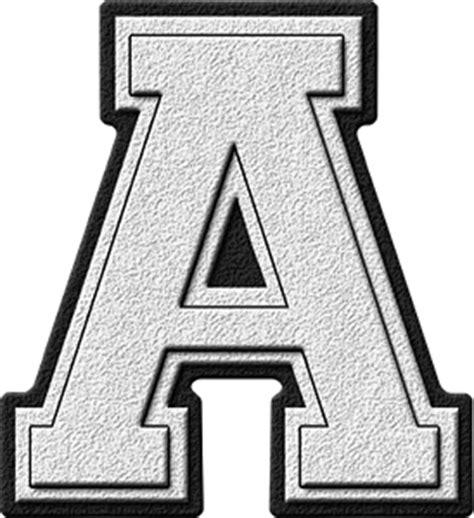 a presentation letter presentation alphabets white varsity letter a