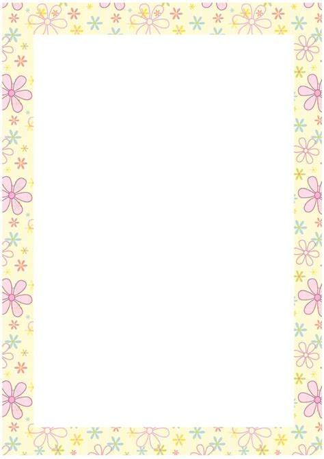 printable paper with flower border free downloadable stationery borders cliparts co