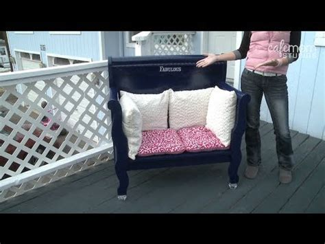 build a bench out of an headboard make it fabulous