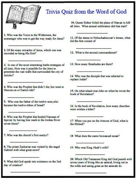 printable bible quiz 4 best images of bible quizzes questions printable