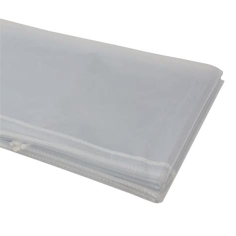berrnour home 60 in x 84 in heavy duty clear plastic