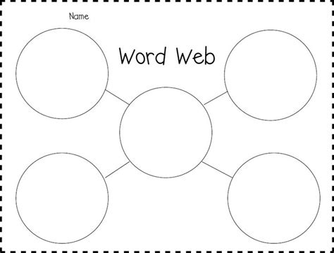 30 Best Images About Graphic Organizers On Pinterest Trees Dr Seuss And Writing Skills Concept Web Template For Word