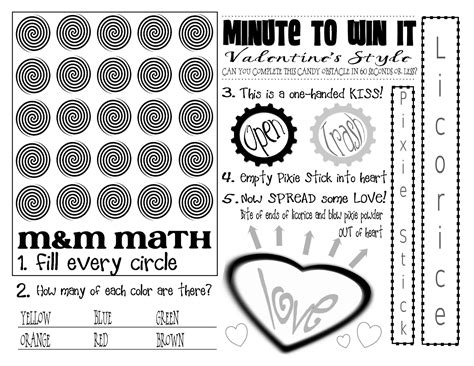 minute to win it valentines create a lot s minute to win it printable