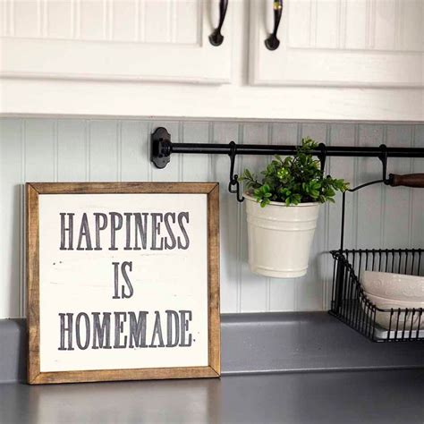 kitchen wall decor ideas gooosen com happiness is homemade handpainted sign handmade 12x12
