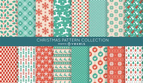 pattern collection download 16 seamless christmas pattern collection vector download