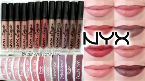 Nyx Matte Lipstick Set 04 nyx lip liquid lipstick lip swatches