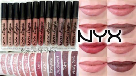 New Nyx Lip Liquid Matte Lipstick Bedtime Flirt nyx lip liquid lipstick lip swatches