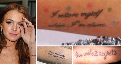 lindsay lohan tattoos lindsay lohan s new chanel joins ink stylefrizz