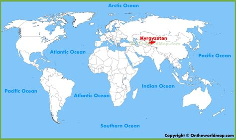 kyrgyzstan in world map kyrgyzstan location on the world map