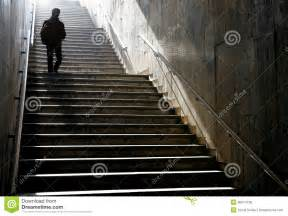 Down Stairs by Silhouette Walking Down The Stairs Royalty Free Stock