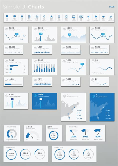 themeforest ui simple ui charts sketch by loudoundesignco themeforest
