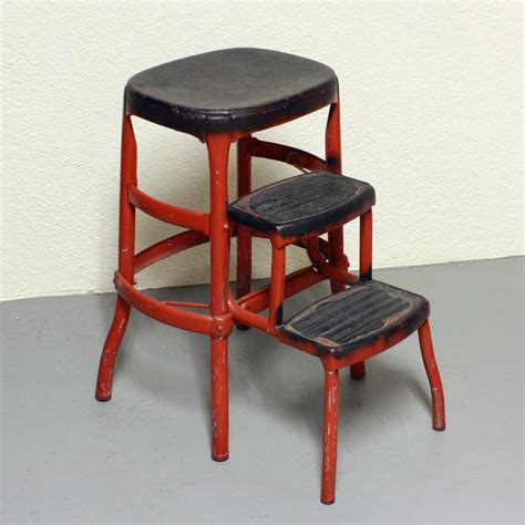 vintage cosco metal step stool vintage stool step stool kitchen stool cosco by oldcottonwood