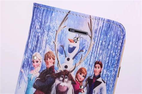 hot cartoon  frozen leather flip case  iphone