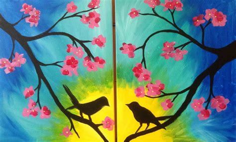 paint nite couples birds date this painting would be great for a