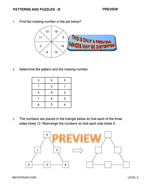 math pattern puzzles worksheet free worksheets by math crush math worksheets and books