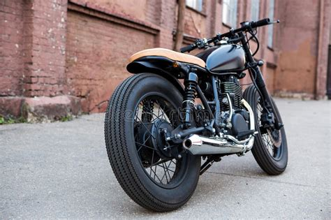 black vintage custom motorcycle caferacer stock photo image of fashioned 67146306