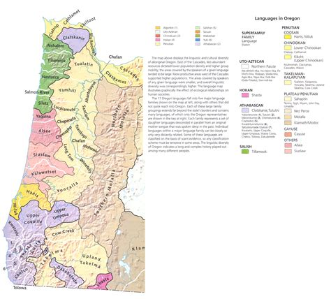 map of western oregon western oregon indian languages don macnaughtan s