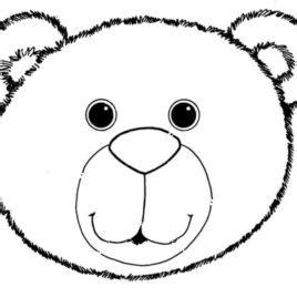 teddy bear head coloring page bear face clipart 164070