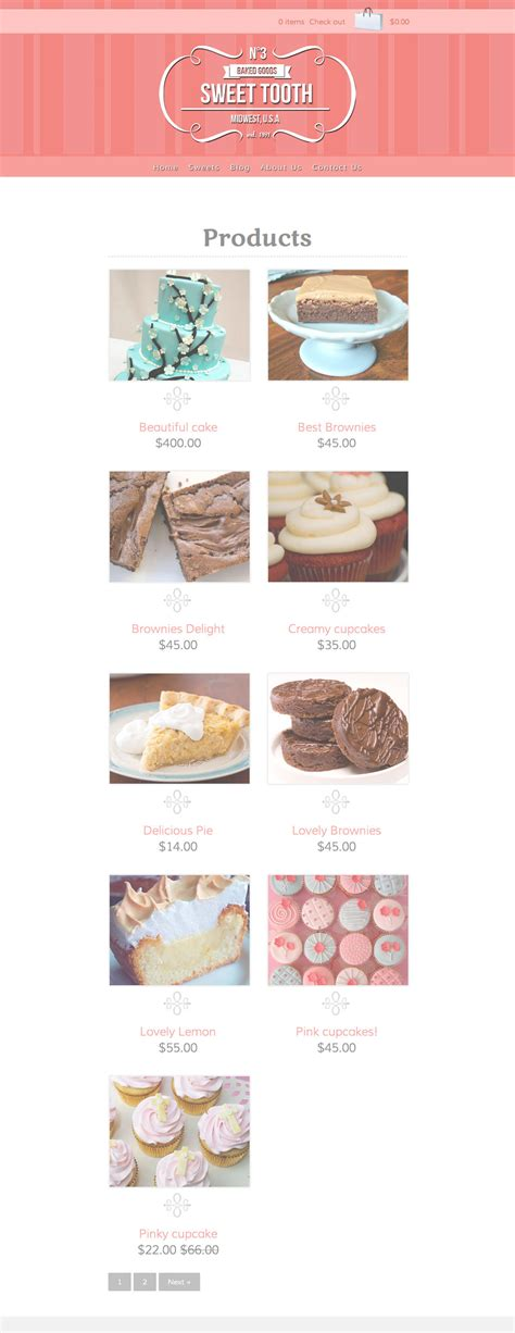 shopify themes bakery sweet tooth by stephaniehider themeforest