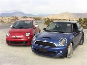 How Fast Is A Fiat 500 2012 Mini Cooper S Versus Fiat 500 Abarth 0 60 Mph