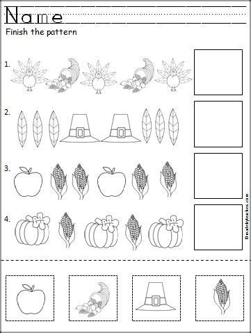 turkey pattern for kindergarten this is a free thanksgiving pattern worksheet for