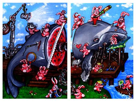 quot moby melon s dissection diptych quot painting prints and posters by lanthier artflakes