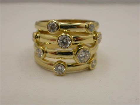 Handcrafted Gold Rings - handmade 18ct yellow gold ring dress ring