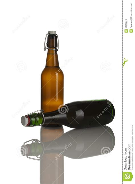 swing cap beer bottles old fashioned beer bottles with swing caps stock photo