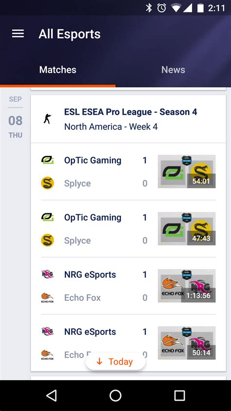 yahoo sports layout android nested scrolling as in yahoo esports layout