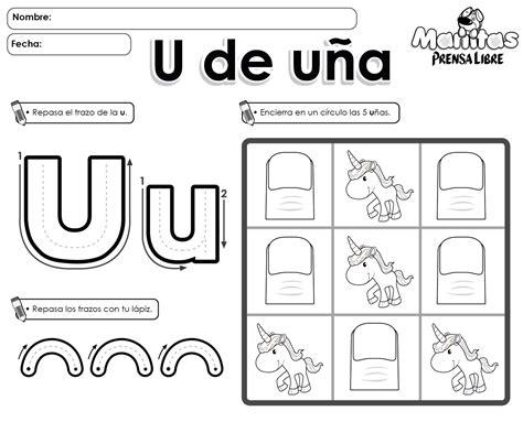 palabras con la letra u u ejemplos de palabras con u vocal u de u 241 a vocales pinterest letras las letras