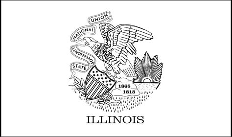 Illinois State Flag Coloring Page illinois state flag