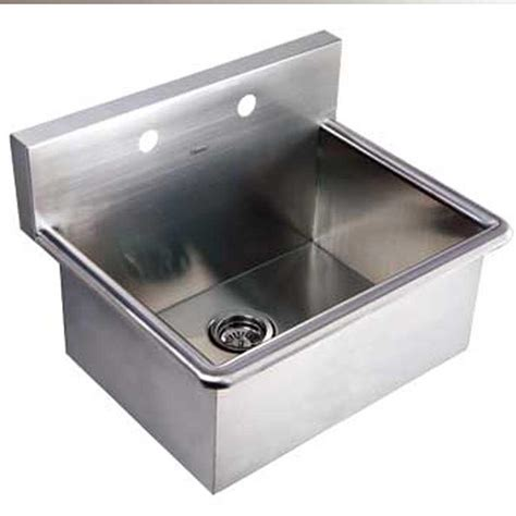 Stainless Steel Laundry Room Sink Whitehaus Collection Noah S Collection 16 1 2 In Stainless Steel Utility Sink Whnc2520 Bss