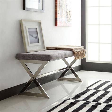 grey bedroom bench homesullivan langley grey telephone bench 40863ey 14ga