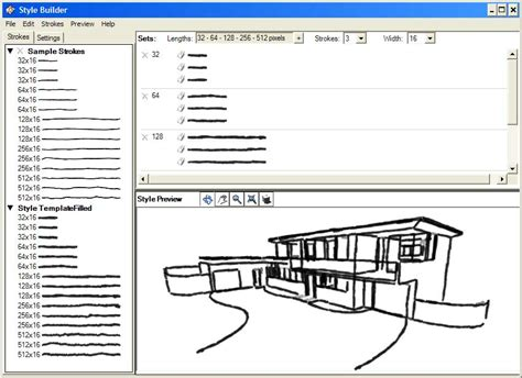 layout sketchup style builder creating a sketchy edge style file sketchup knowledge base