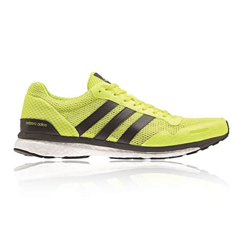 green adidas running shoes adidas adizero adios mens green sneakers running road