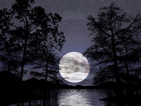 koleksi gambar bulan  bintang  malam hari terindah