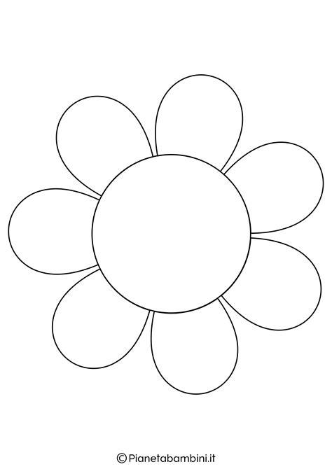 immagini fiore da colorare 81 sagome di fiori da colorare e ritagliare per bambini