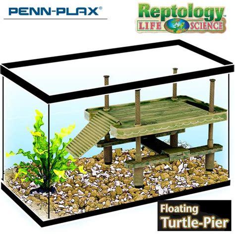 Reptile Tank Basking Size L Penn Plax Decorative Turtle Pier Floating Basking Platform