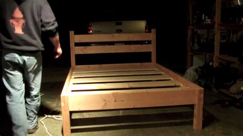 queen bed frame youtube