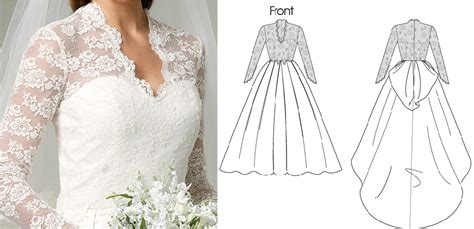 pattern making gown kate middleton wedding gown archives what kate wore